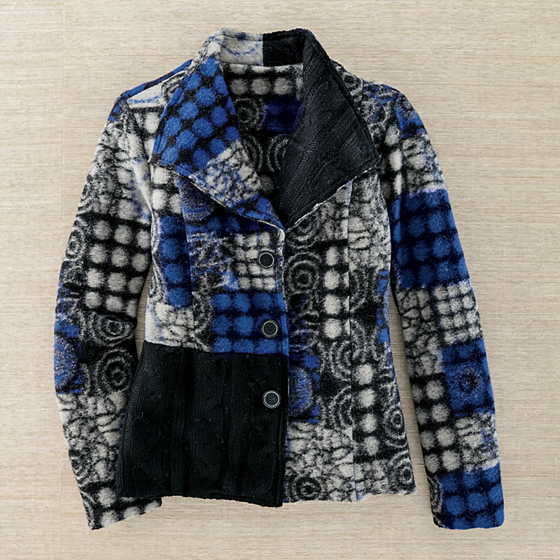 Boiled Wool Patchwork Jacket