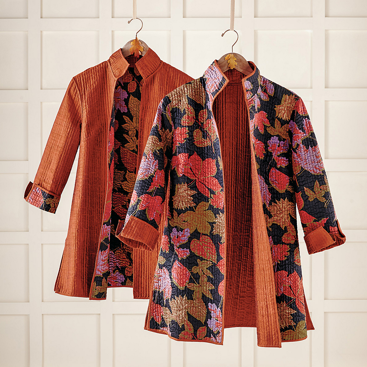 Reversible Falling Leaves Jacket