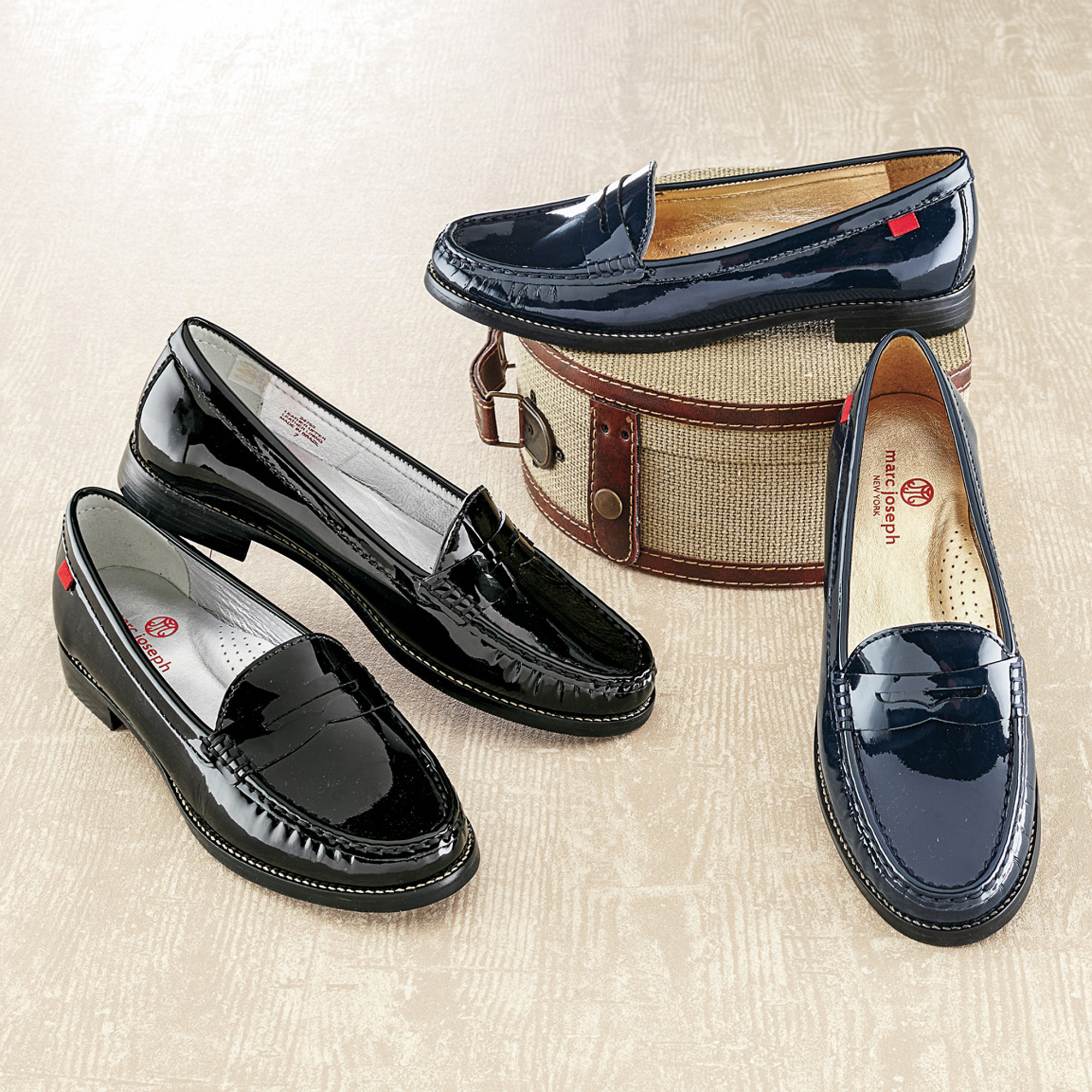 Marc Joseph Patent Loafers