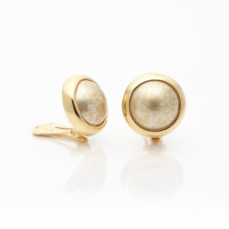 Murano Essential Clip Earrings, Gold