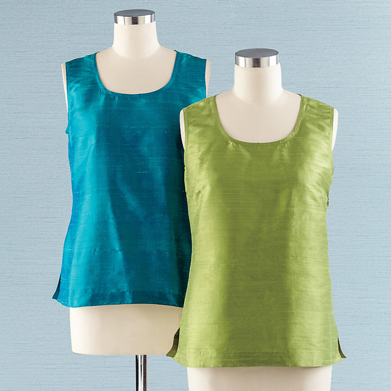 Signature Silk Dupioni Tanks