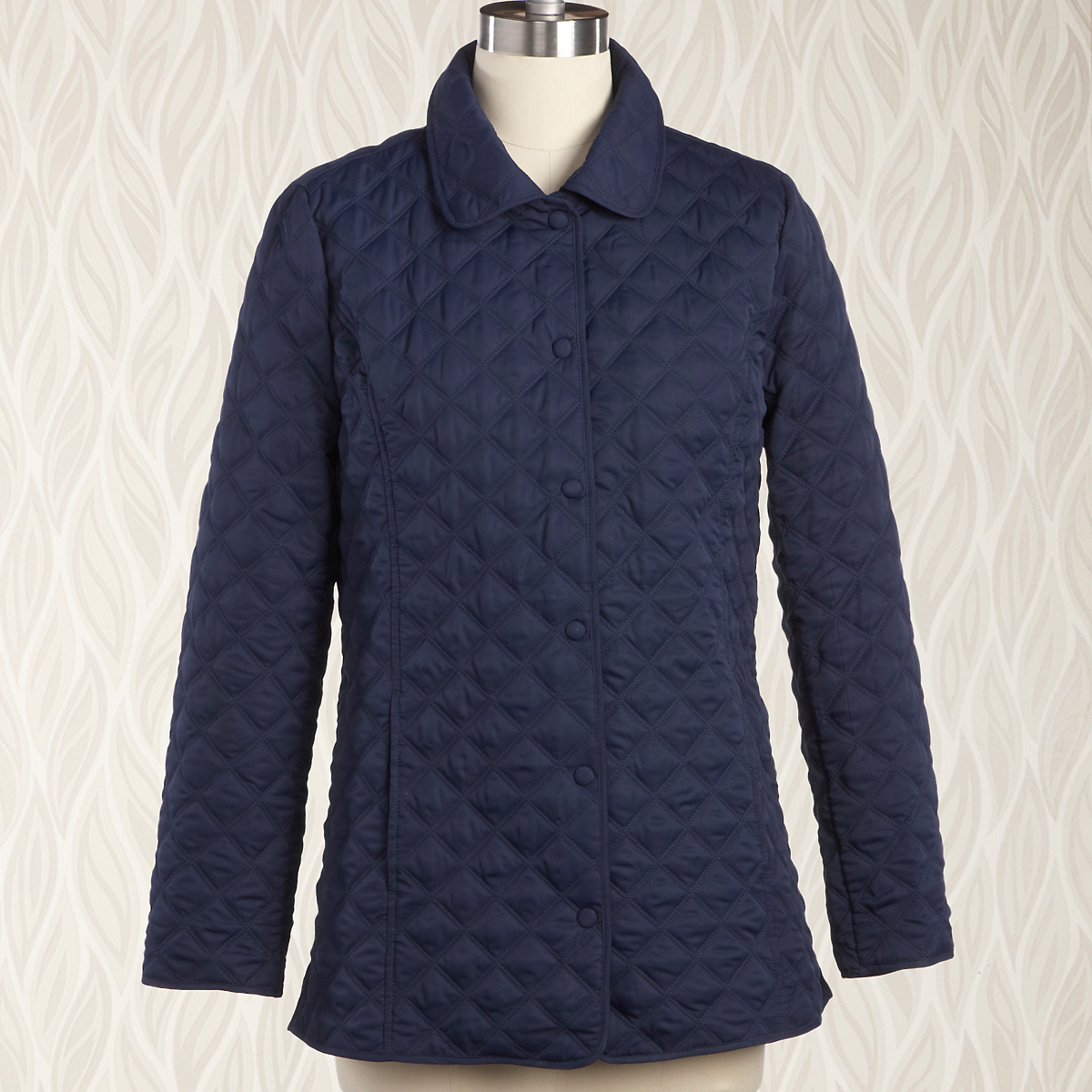 Silver Linings Quilted Coat, Midnight