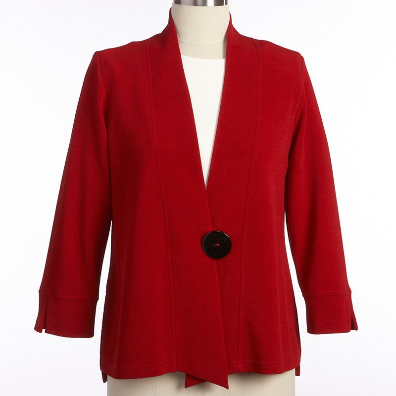 One-Button Bouclé Jacket