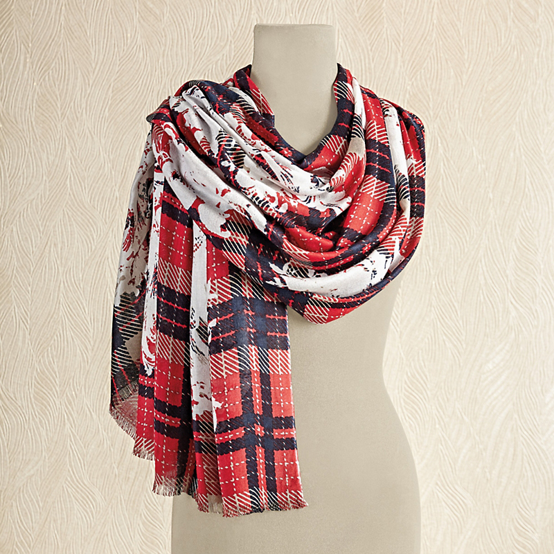 Corinthian Plaid Scarf