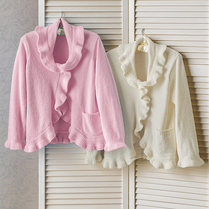Ruffle Front Bed Jacket