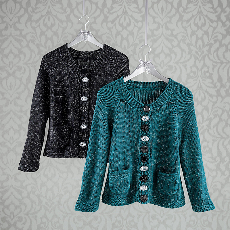 Holiday Button Cardigan