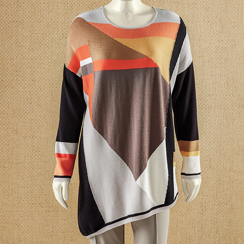 Nic + Zoe Colorblock Sweater
