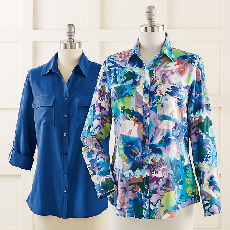Go Silk Two-Pocket Blouse