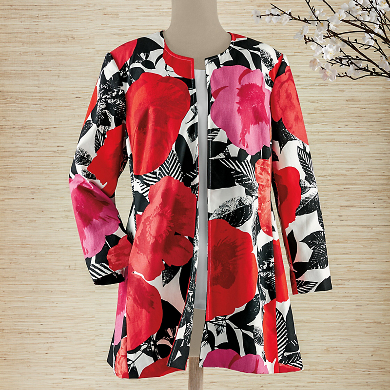 Blooming Poppies Jacket