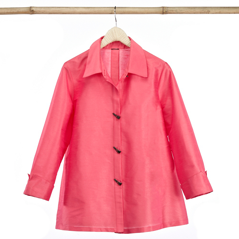 Empress A-Line Blouse, Pink Peony