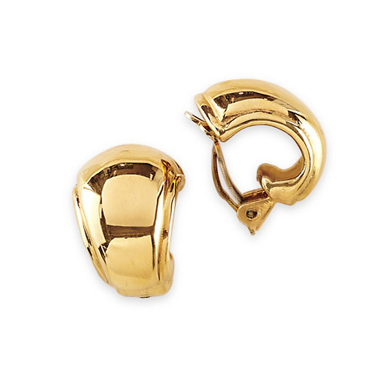 Simon Sebbag Smooth Huggie Clip Earrings