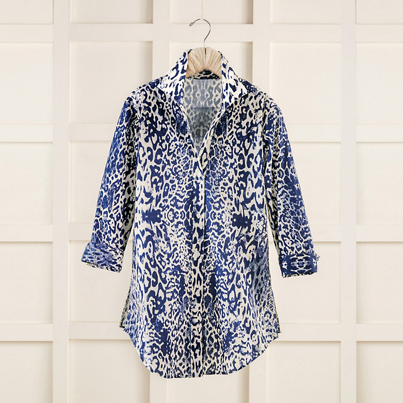 Indigo Animal Print Tunic