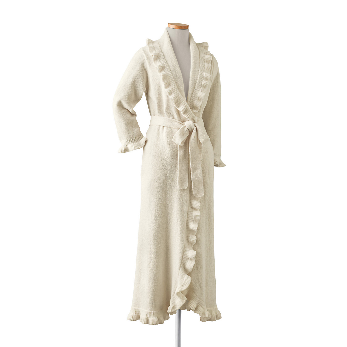 Ruffled Belted Robe