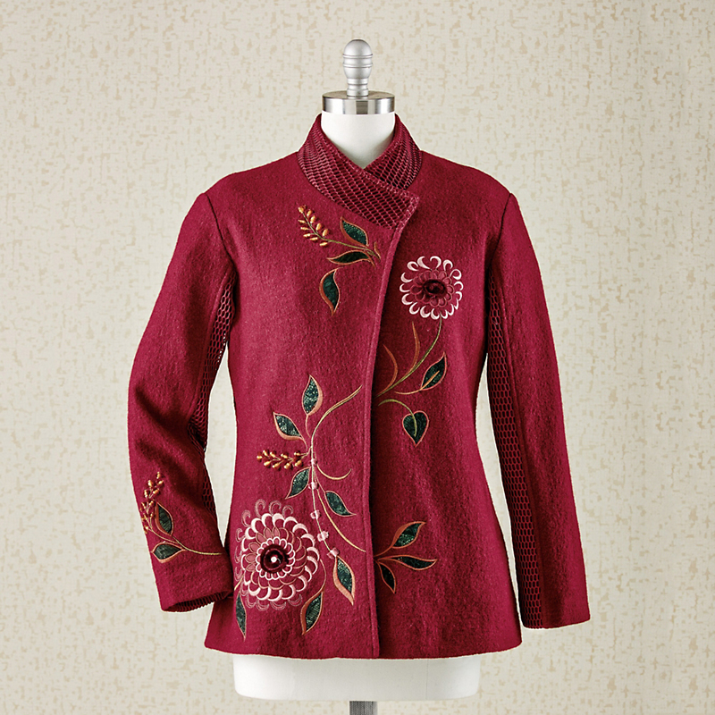 Ruby Applique Coat