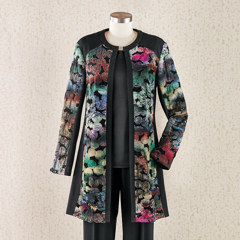 Painterly Cutout Jacket