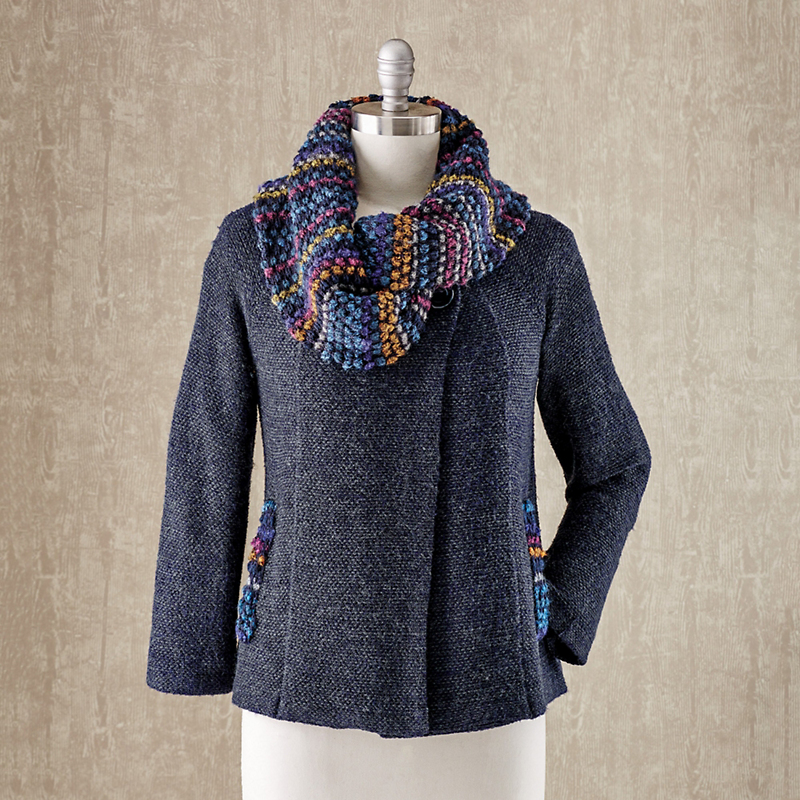 Amanda Wrap Collar Cardigan