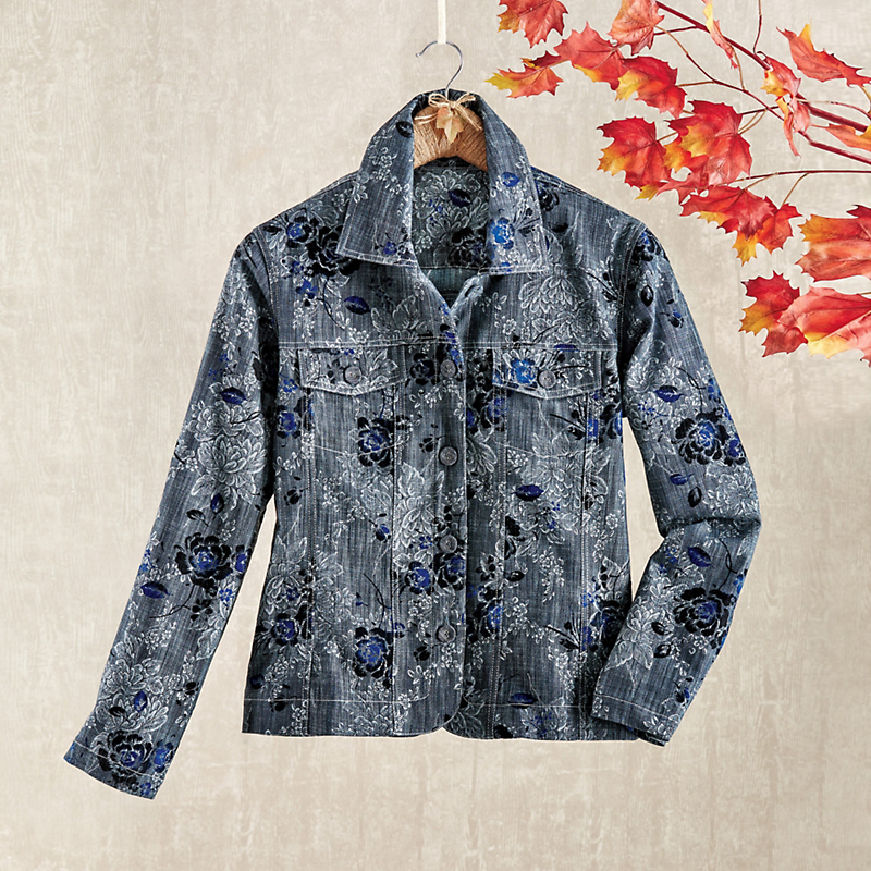 Flocked Jean Jacket