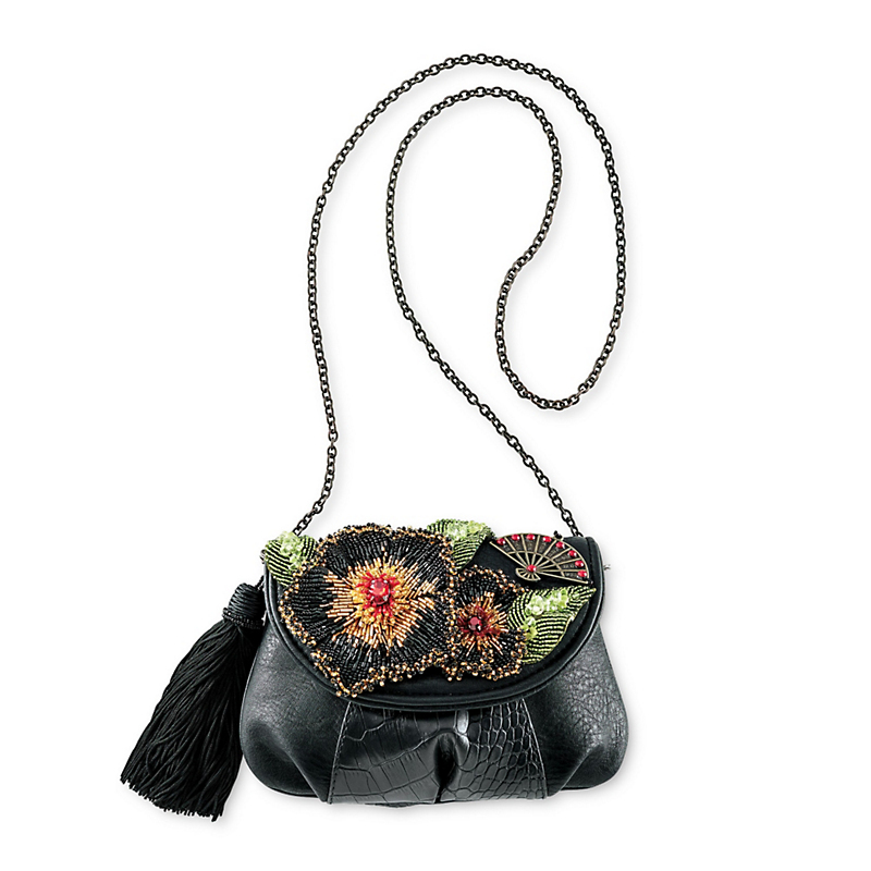 Mary Frances Beaded Flower Bag