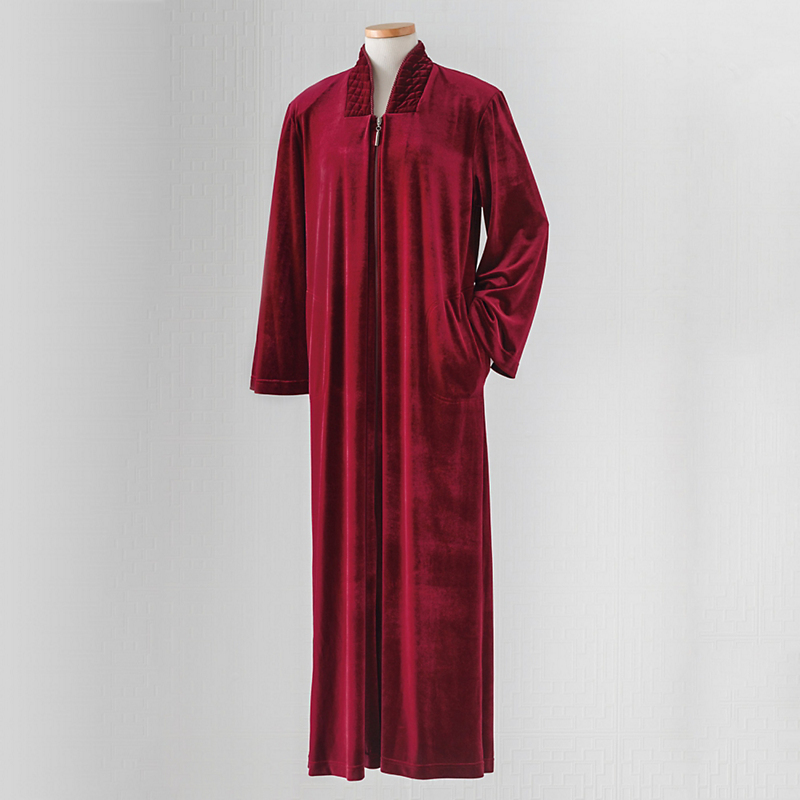 Ruby Red Velvet Robe