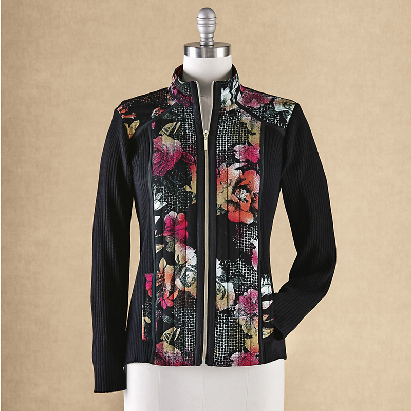 Wildflower Zip-Front Cardigan