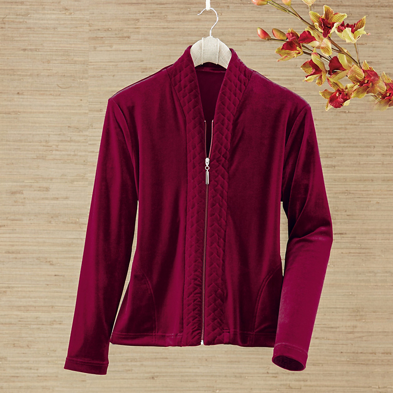 Stretch Velvet Lounge Jacket