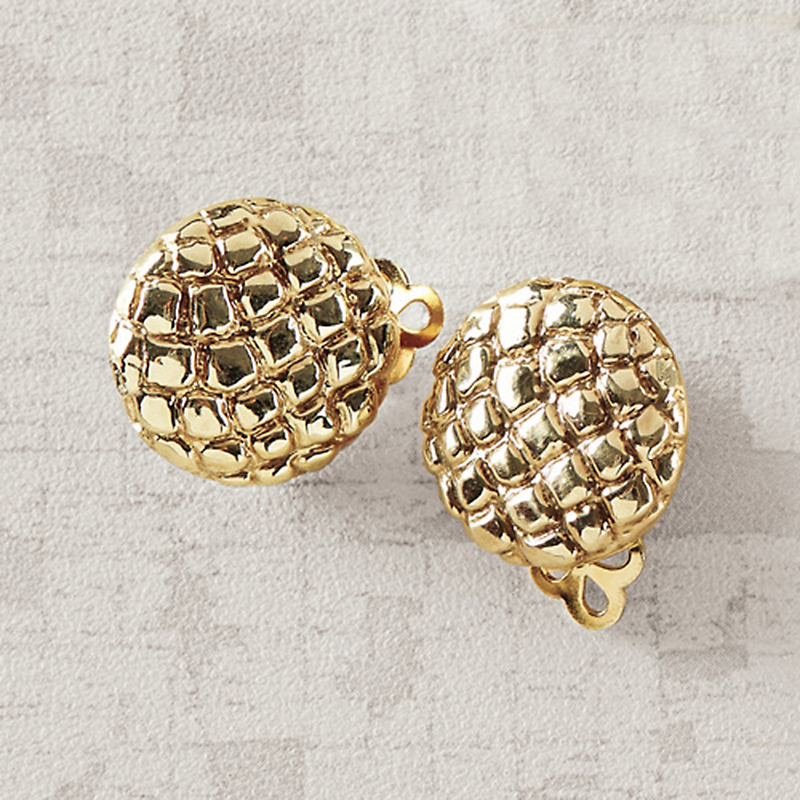 Simon Sebbag Croco Clip Earrings