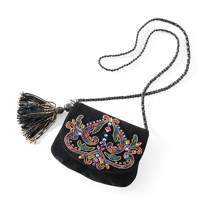 Mary Frances Bejeweled Velvet Bag