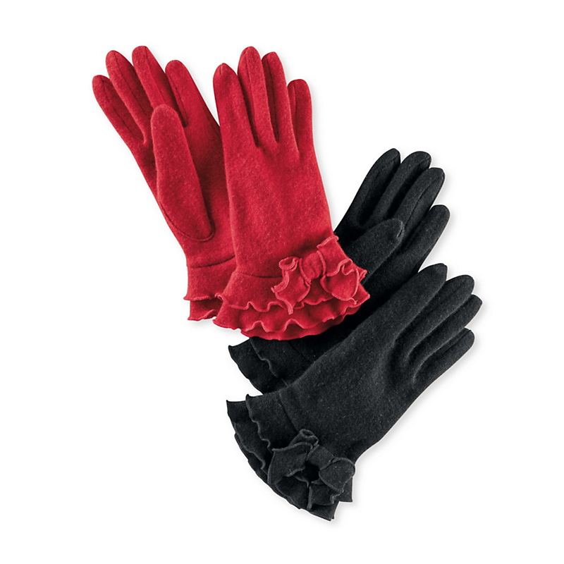 Ruffle Bow Gloves
