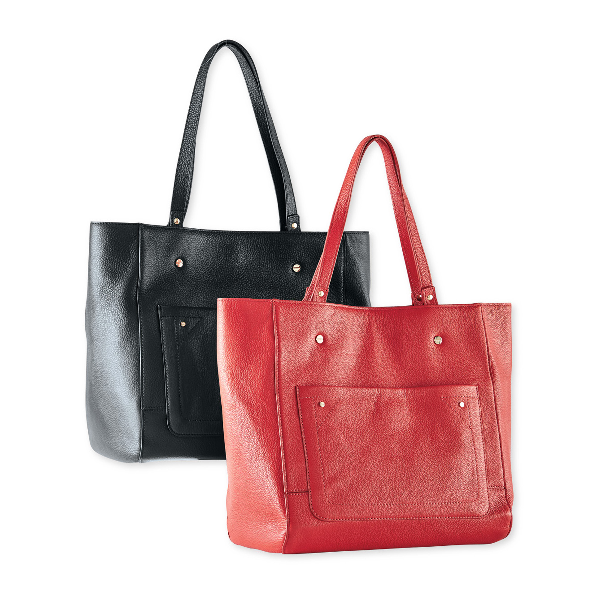 Gump's Signature Leather Tote