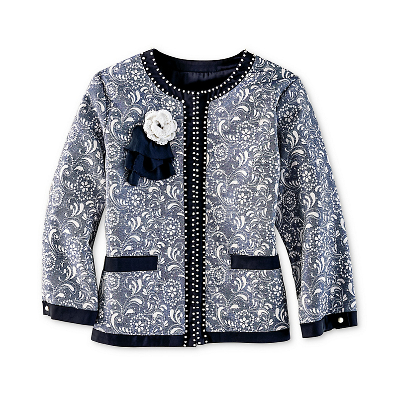 Michael Simon  Embellished Paisley Jacket