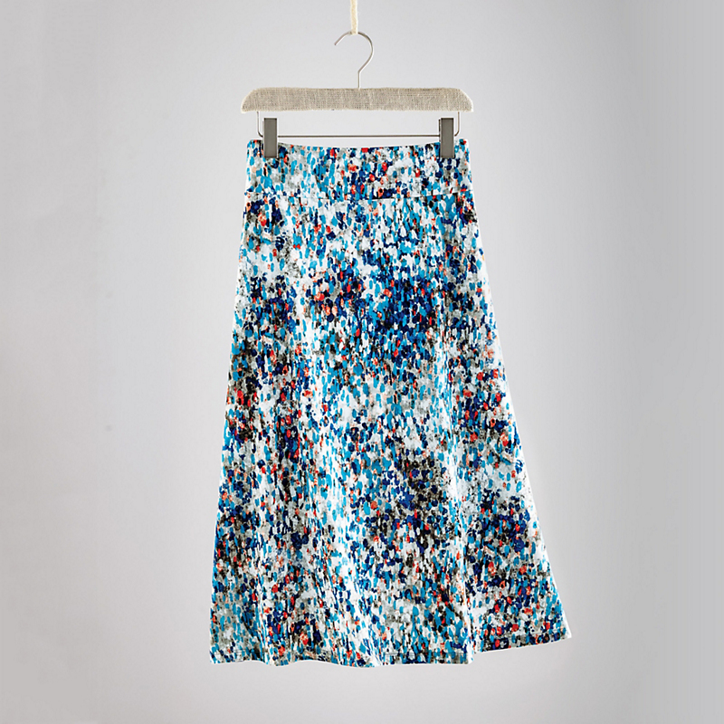 Brushstroke Dot Skirt