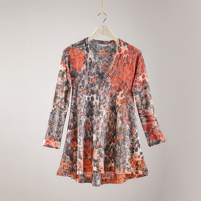 Abstract Floral Tunic