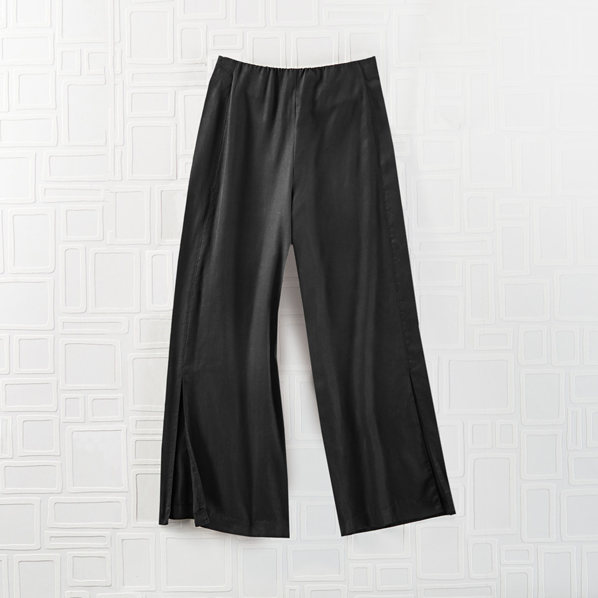 Tencel Split-Leg Pants