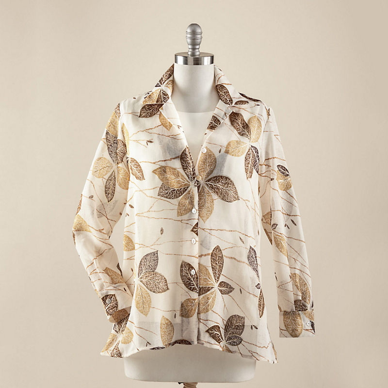 Golden Leaves Blouse