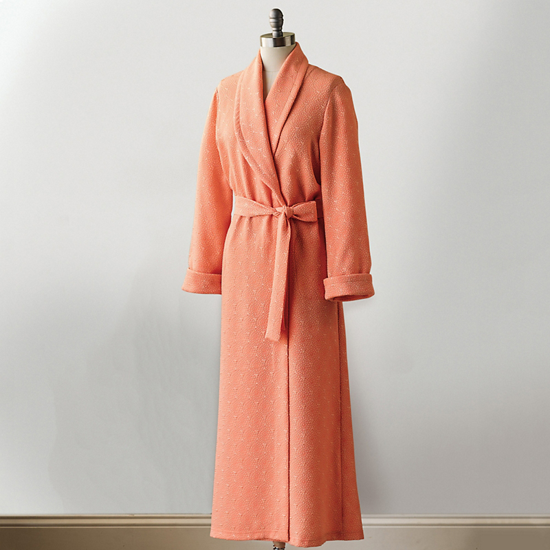 Long Coral Wrap Robe