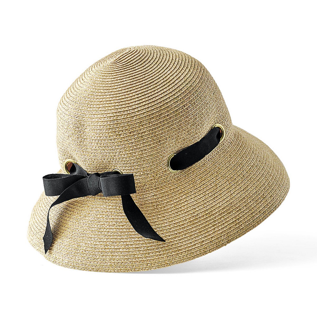 Garden Hat With Black Ribbon