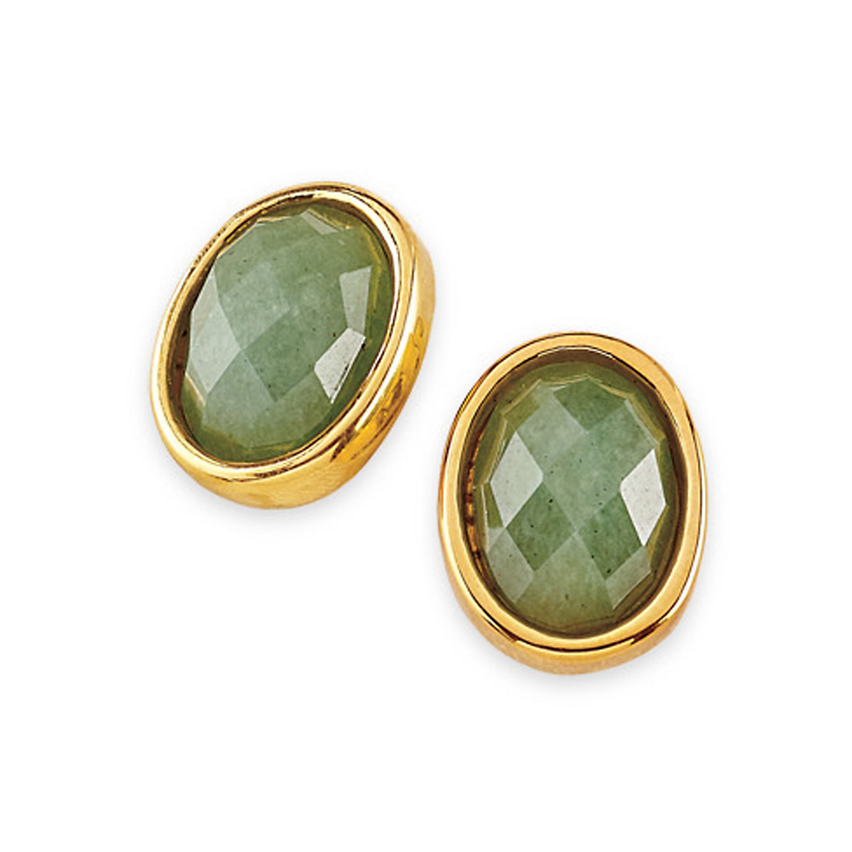 Simon Sebbag Faceted Oval Clip Earrings