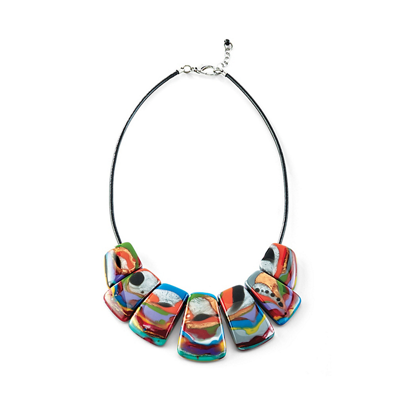 Abstract Brazil Necklace