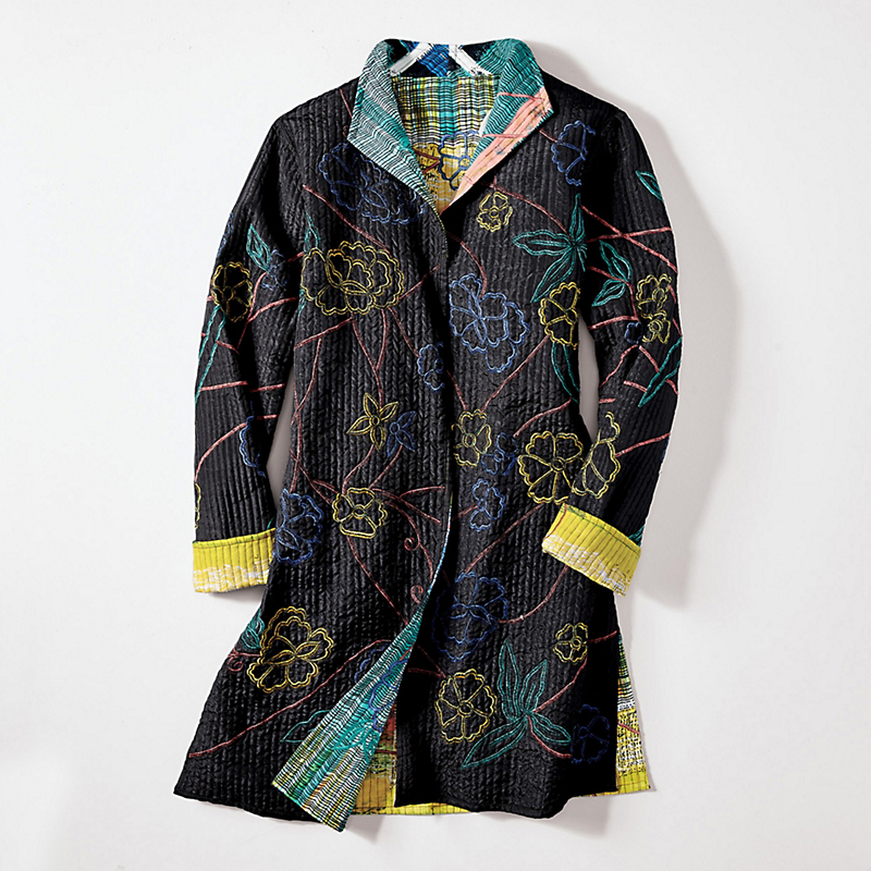 Reversible Embroidered Isle Jacket