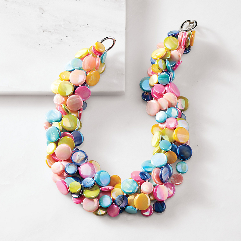 Pink Confetti Necklace