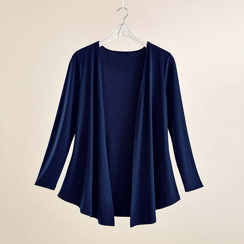 Nic + Zoe Luxe Jersey Collection Cardigan