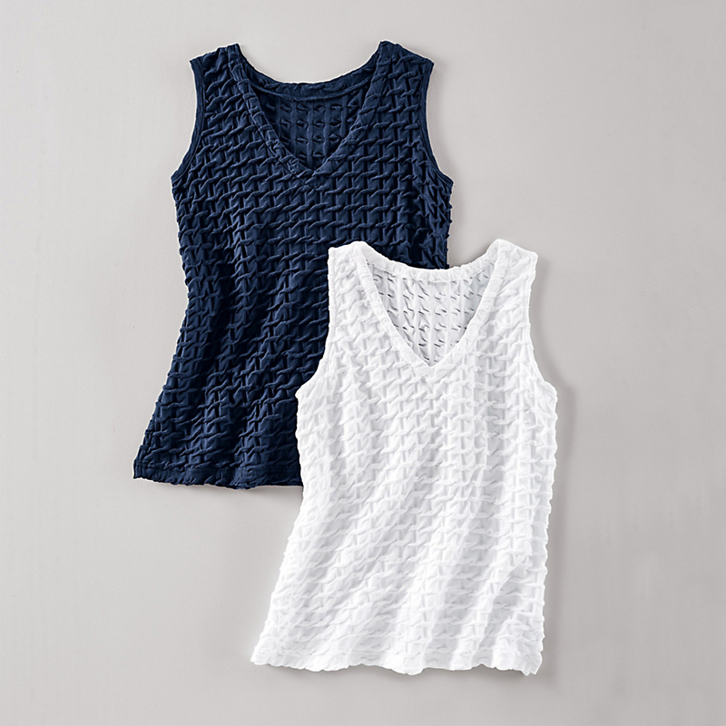 Textured Lounge Collection Waffle Tank