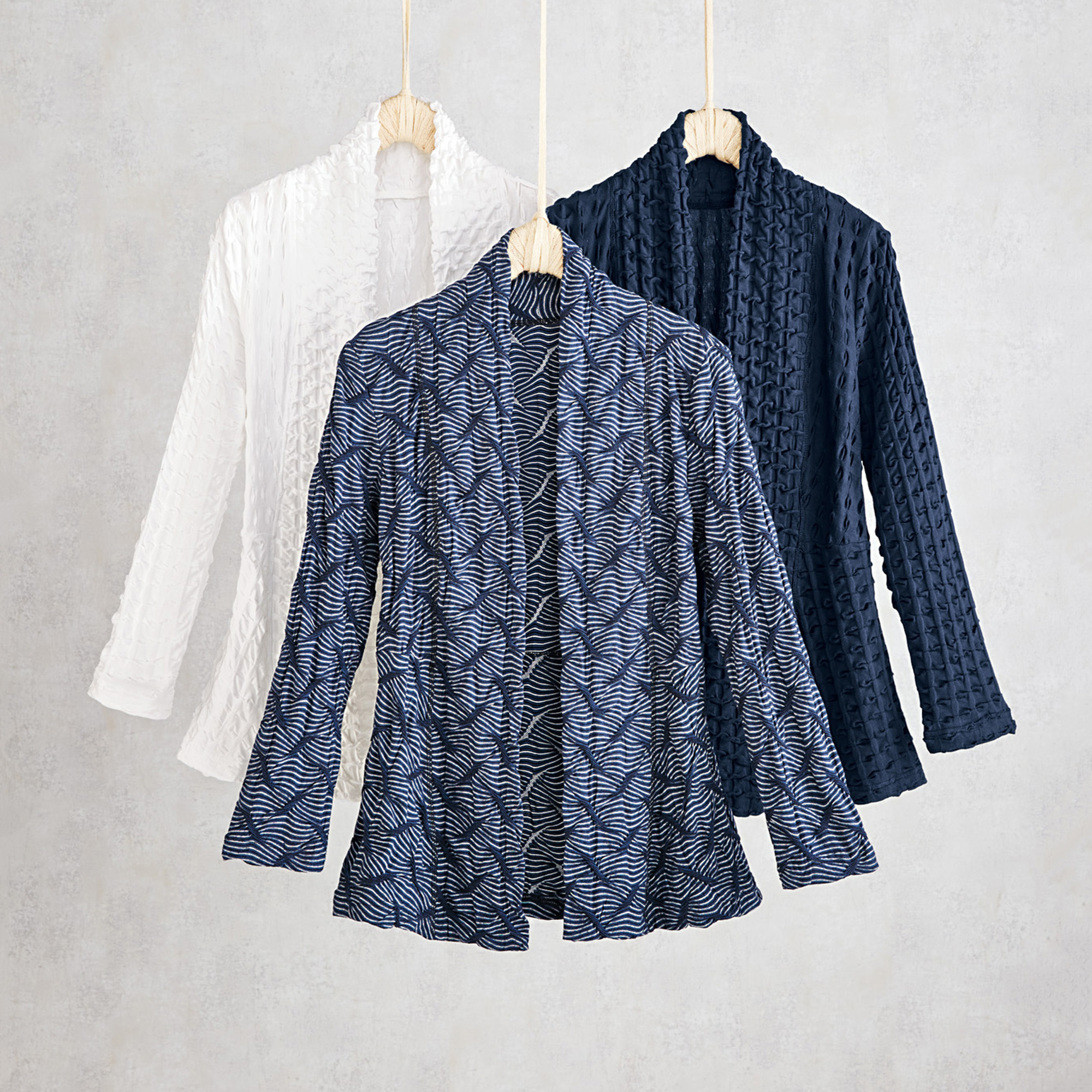 Textured Lounge Cardigans