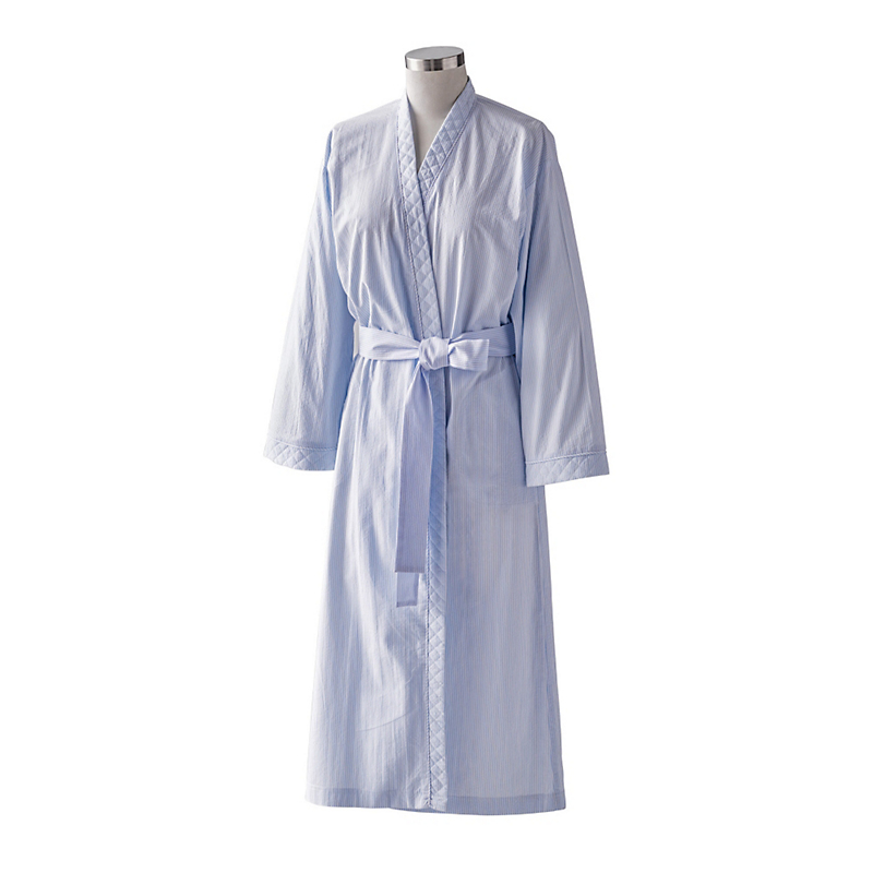 Powder Blue Seersucker Robe