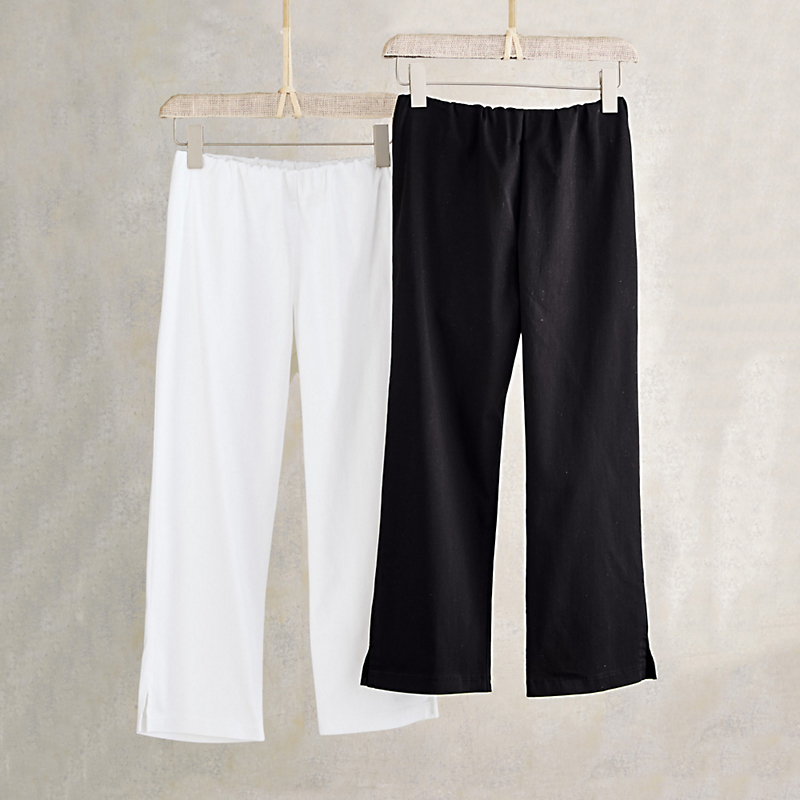 Resort Sateen Cropped Pants