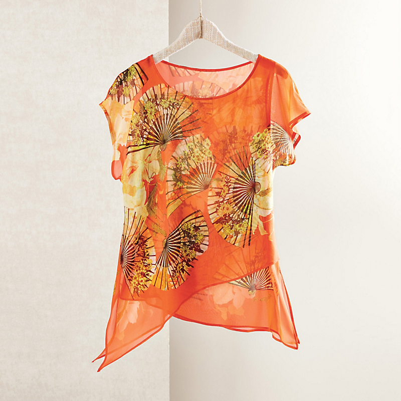 Silk Fan Tunic