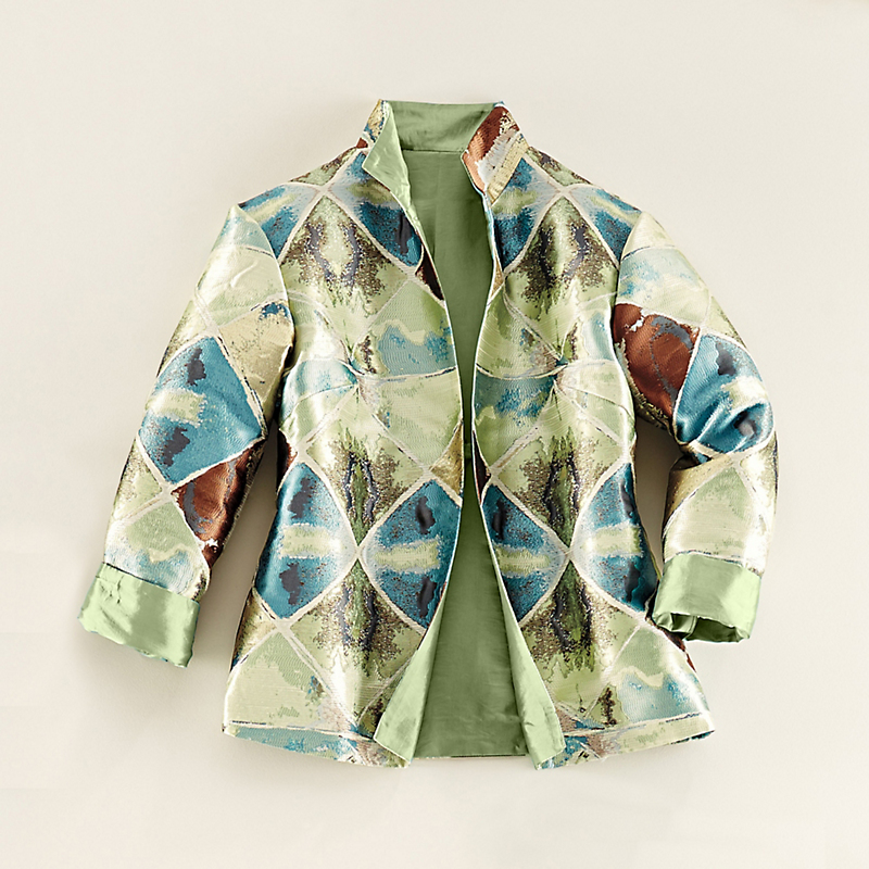 Metallic Geo Jacket