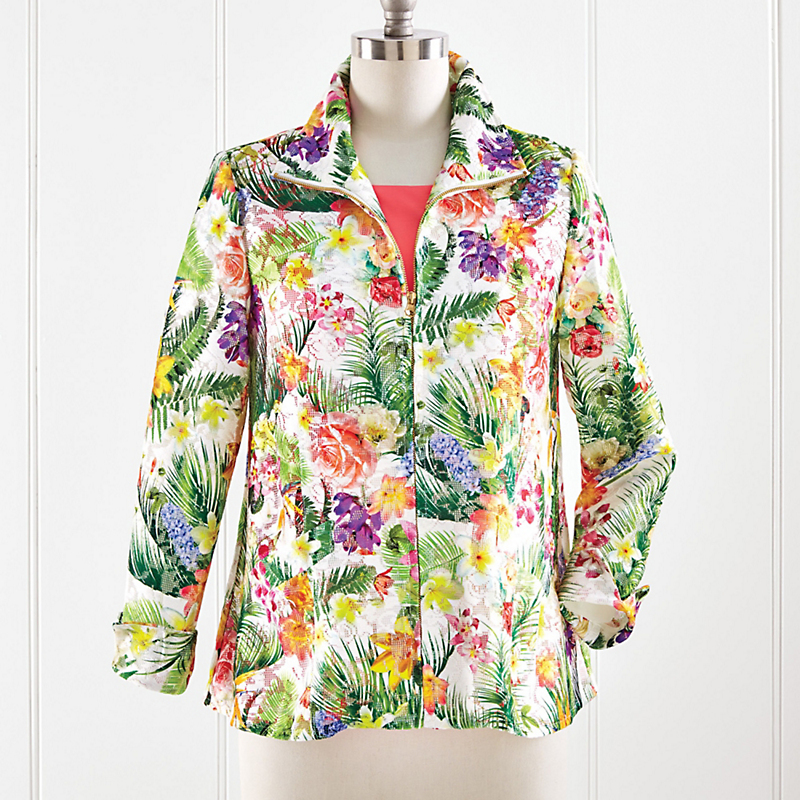 Sunset Tropics Lace Jacket