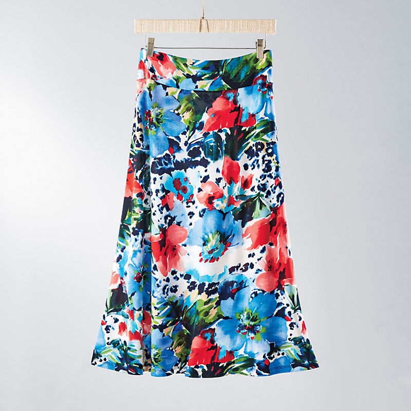 Palm Beach Floral Skirt