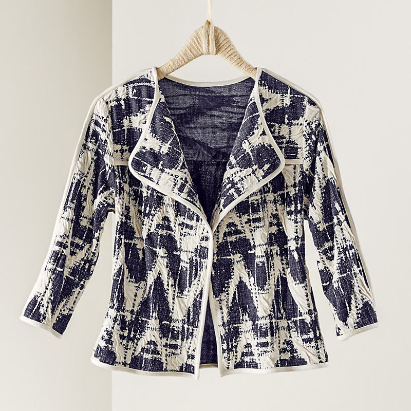 Ikat Knit Jacket
